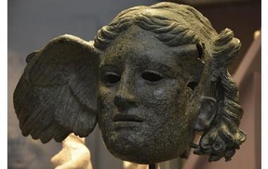 Bronze head of Hypnos