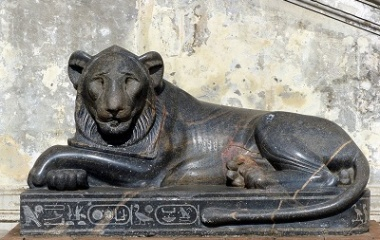 Crossed Paws at Heliopolis temple
