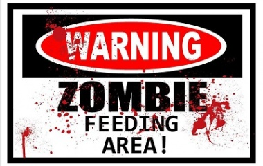 Funny Zombie Sign