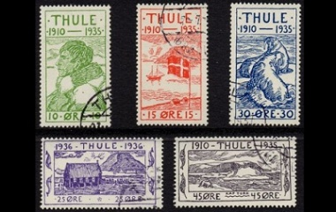Greenland Local Stamps - Thule Set
