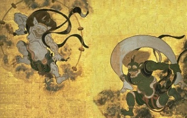 Raijin (left) and Fujin