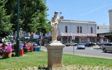 statue of Hebe in Ballarat, Australia