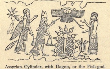 Assyrian Cylinder, with Dagon