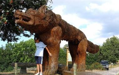 Beast of Gevaudan Statue