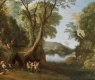 Fauns In A Wooded Landscape