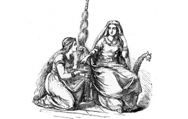 Frigg and her handmaid Fulla