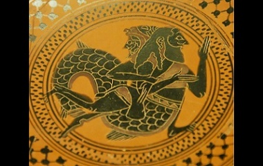 Herakles and Triton on Pottery
