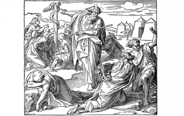 Moses and Brazen serpent
