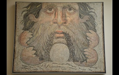 Oceanus in 3rd century mosaic panel