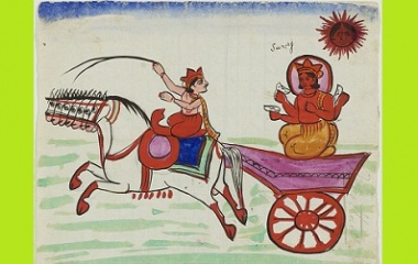 Surya in his chariot