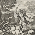 Tiresias striking the snakes