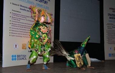 Kartikeya with Peacock, Chhau Dance