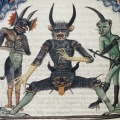 Lucifer waiting for the Last Judgement