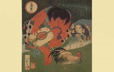 A Match between Rooster and Tengu