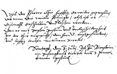 Birstein Witchcraft trial 1597