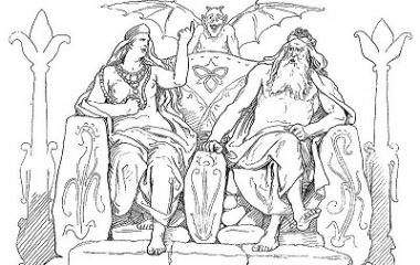 Frigg and Odin