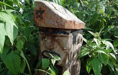 Jarai tomb, the guardian spirit sculpture