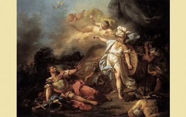 The Combat of Ares and Athena