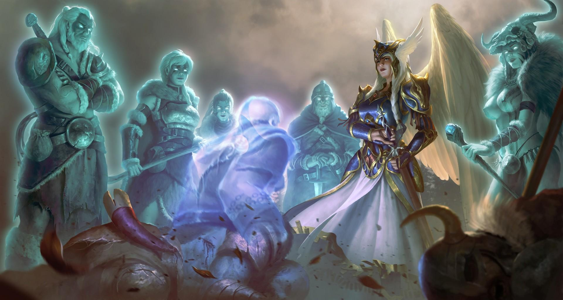 An Einherjar meet the Valkyrie