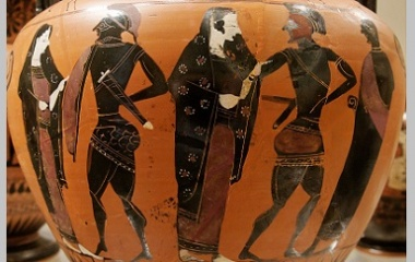 Menelaus in ancient Greek pottery
