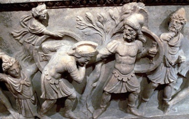 Paris defeated by Menelaus
