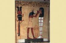 Anubis with a mummy