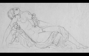 Drawing of Hermaphroditus with infants