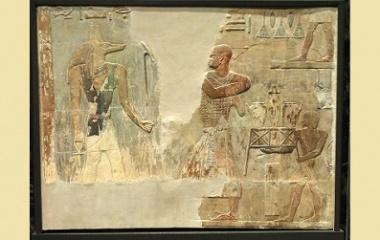 Mentuemhat and Anubis