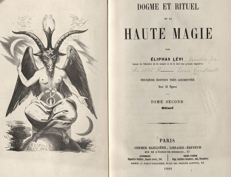 Hand-drawn depiction of Baphomet