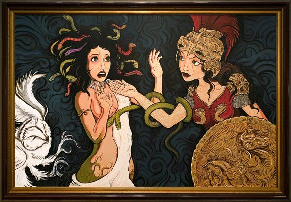 Medusa Being Punished By Athena