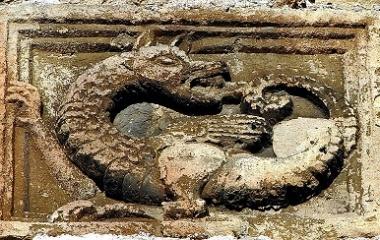 Ouroboros on a wall, Ptuj Castle