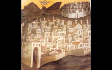 Sodom and Gomorrah by Giusto, 1376
