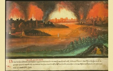 Sodom and Gomorrah painting, 1552