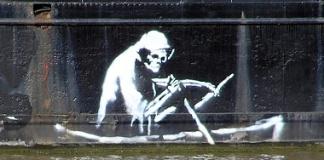 An art work by Banksy
