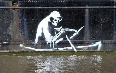 An art work by Banksy