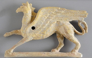 Applique in the Form of a Griffin
