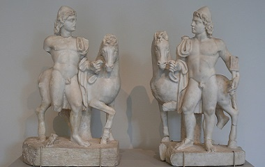 Castor and Pollux statues in the Metropolitan