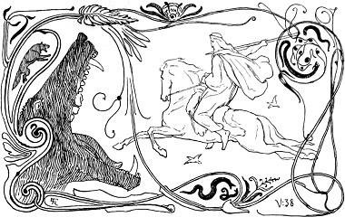 Fenrir and Odin