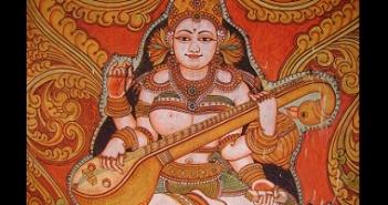 Painting of Saraswati