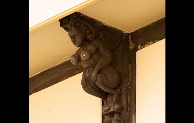 A 16th-century sculpture representing a succubus