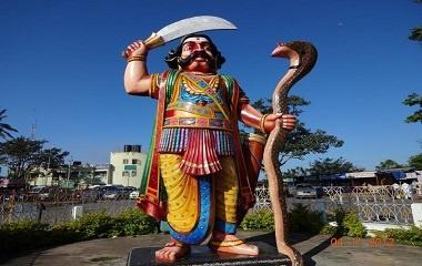 Asura statue at Chamundi Hills