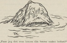 Head out of water, 1893