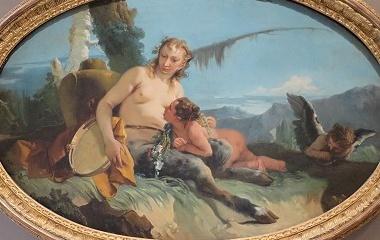 Satyress painting, 1740
