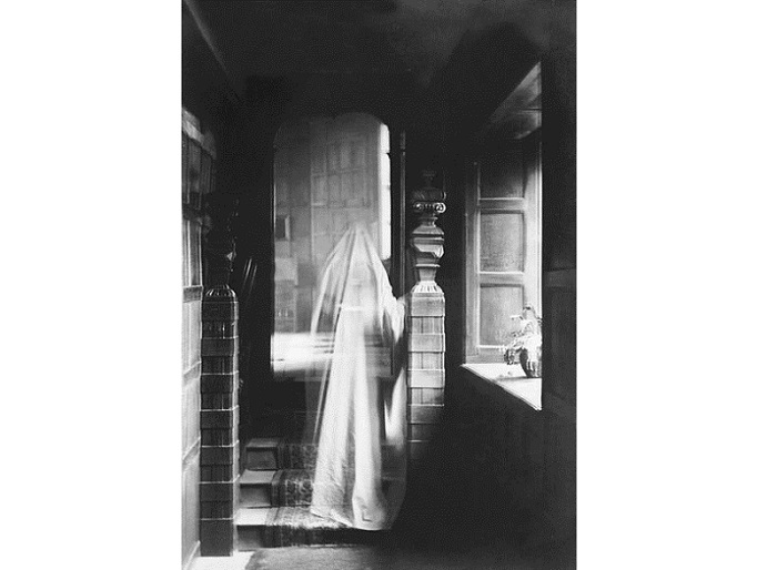 Image of ghost, produced by double exposure, 1899