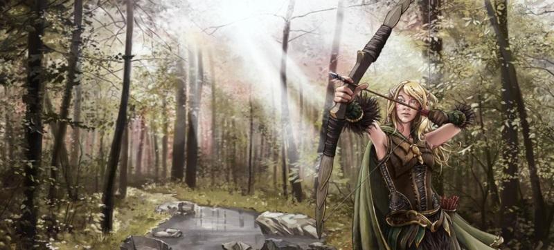 Elf markwoman